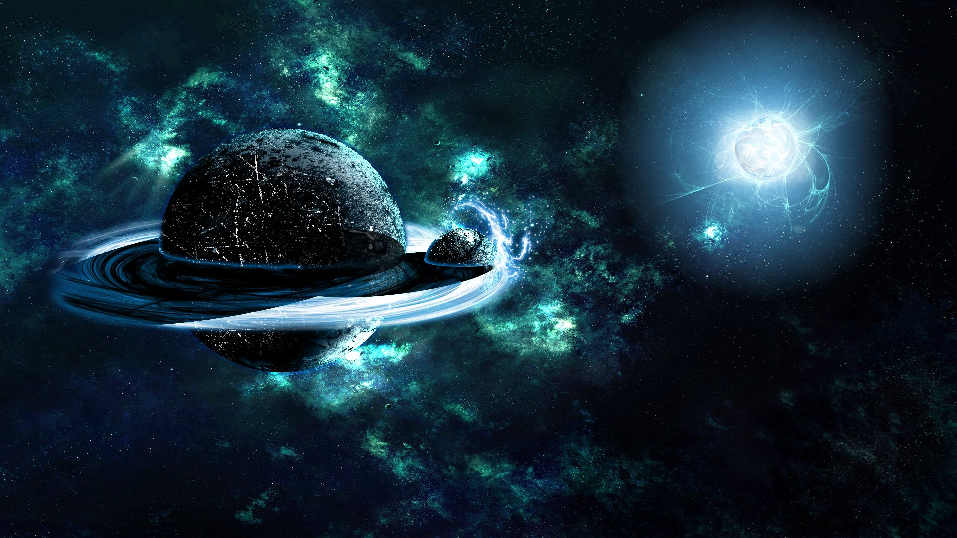 Обои Темная планета картинки на рабочий стол на тему Космос - скачать  № 1763059 без смс