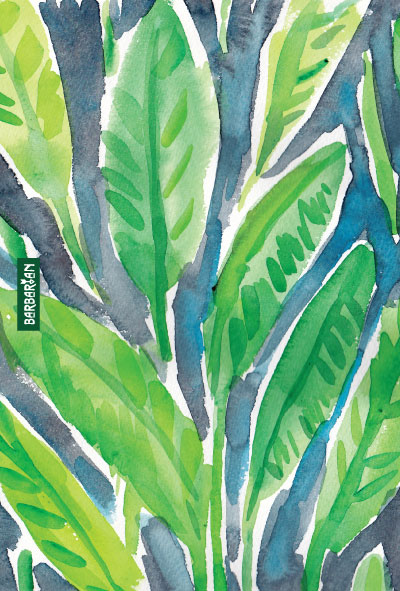 Top Banana Leaf Print Art Wallpapers 400x591