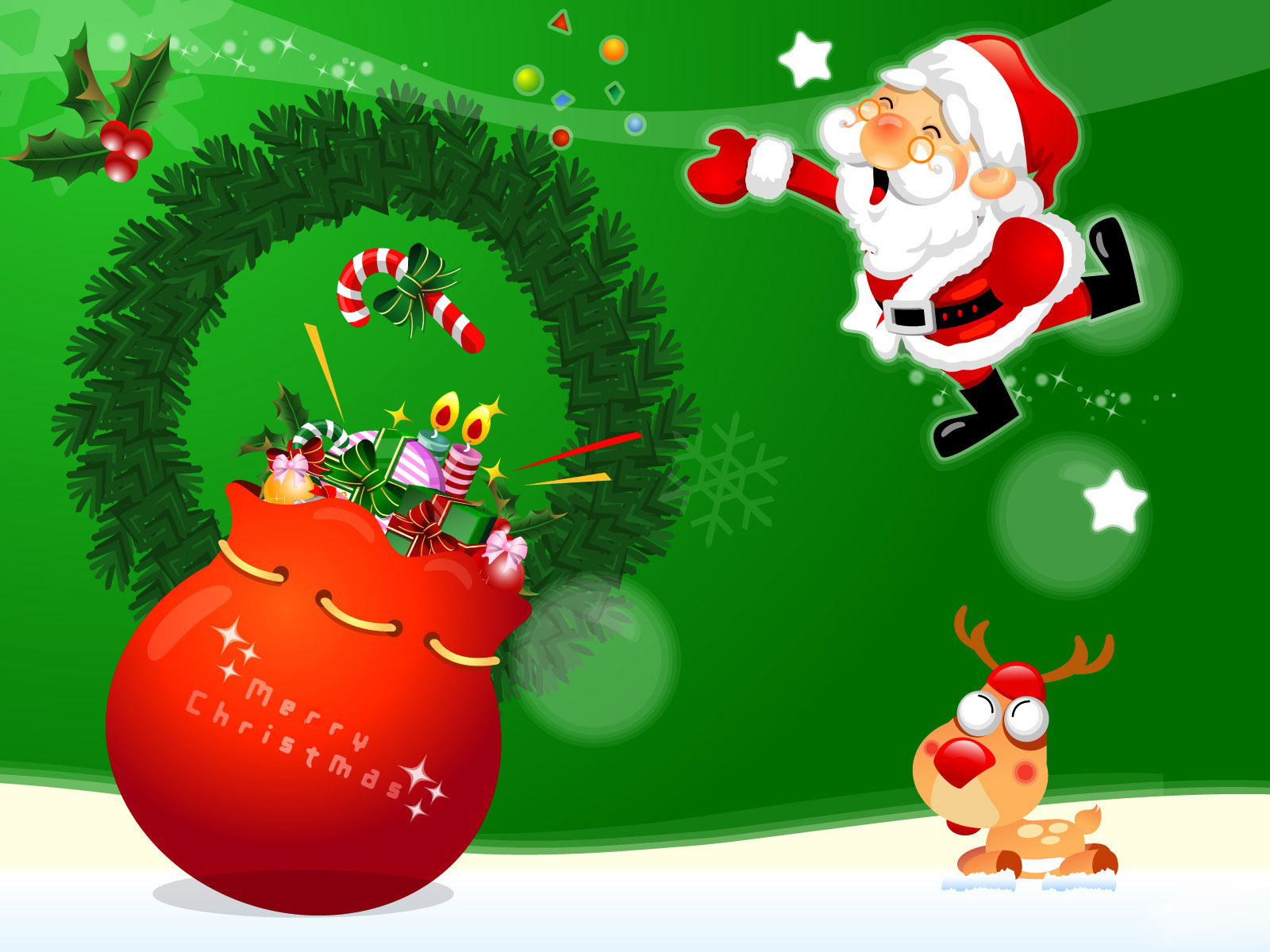 Hot Wallpapers Blogs 2011 Christmas Wallpapers For 1600x1200