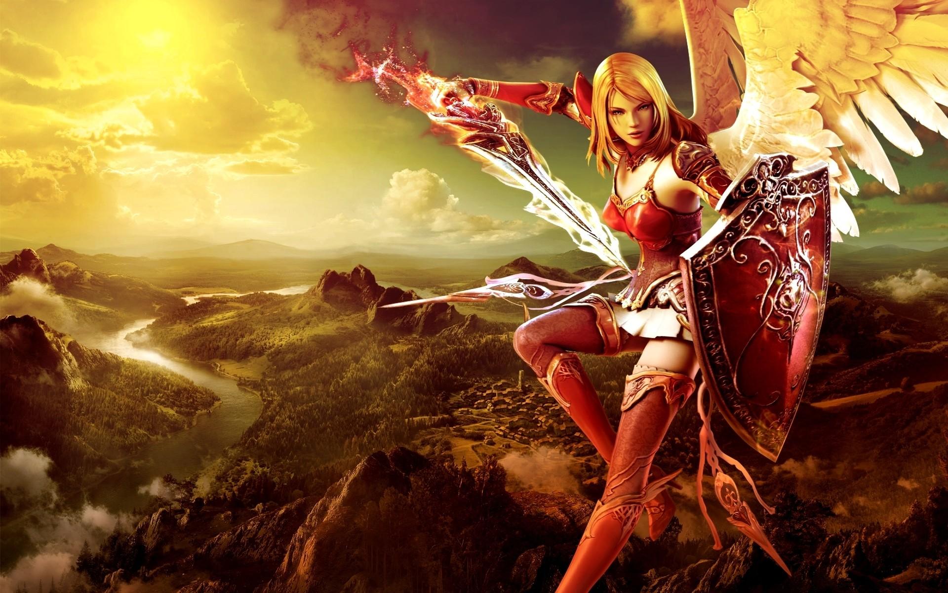 Fantasy Girl Warrior Wallpaper Wallpapersafari