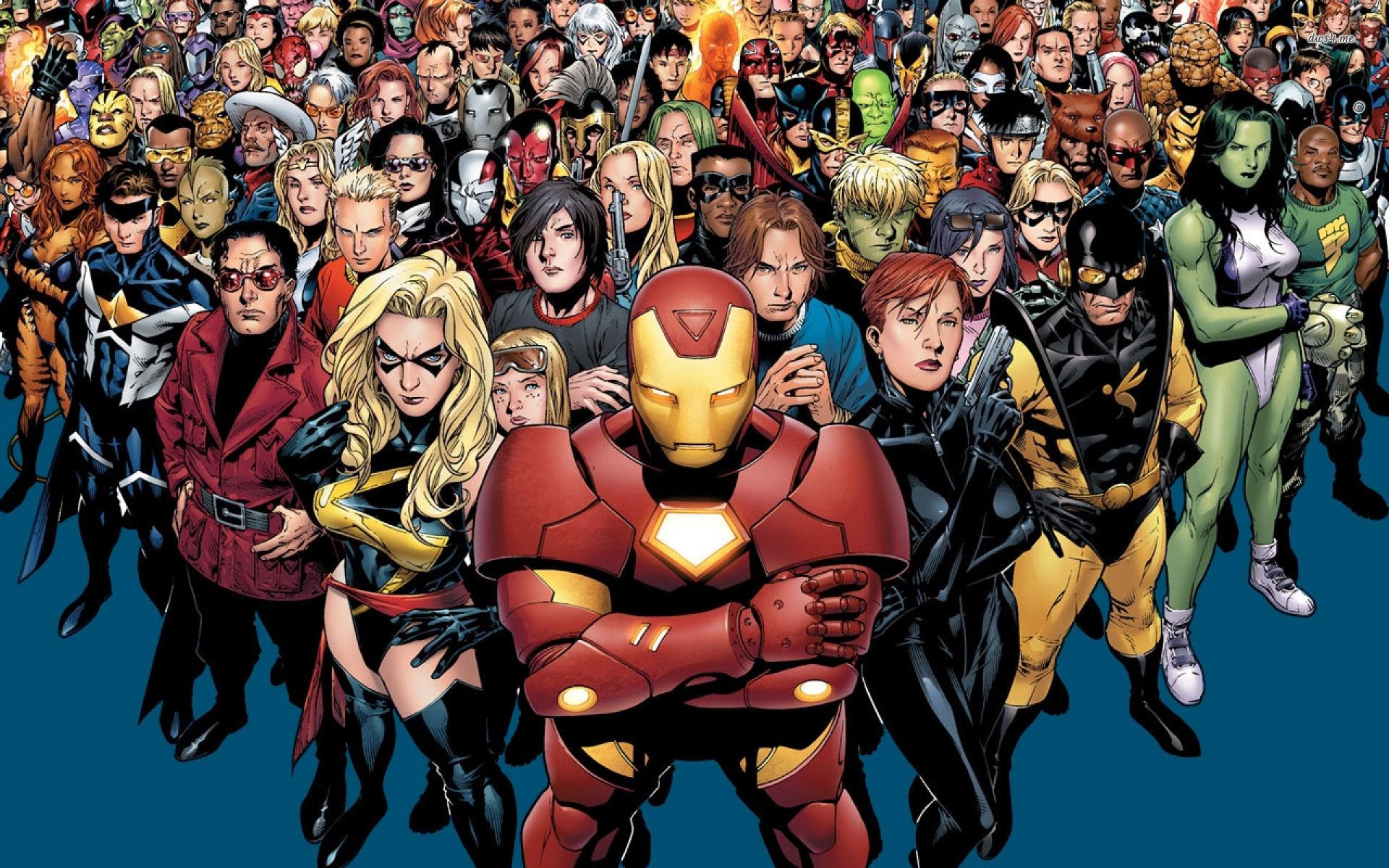 Marvel superheroes wallpapers wallpapersafari - All marvel heroes wallpaper ...