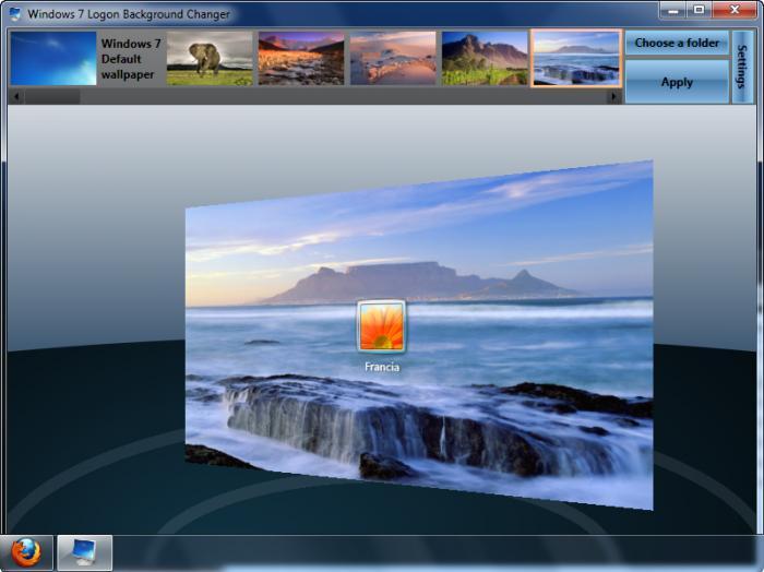 Windows 7 starter background wallpaper changer