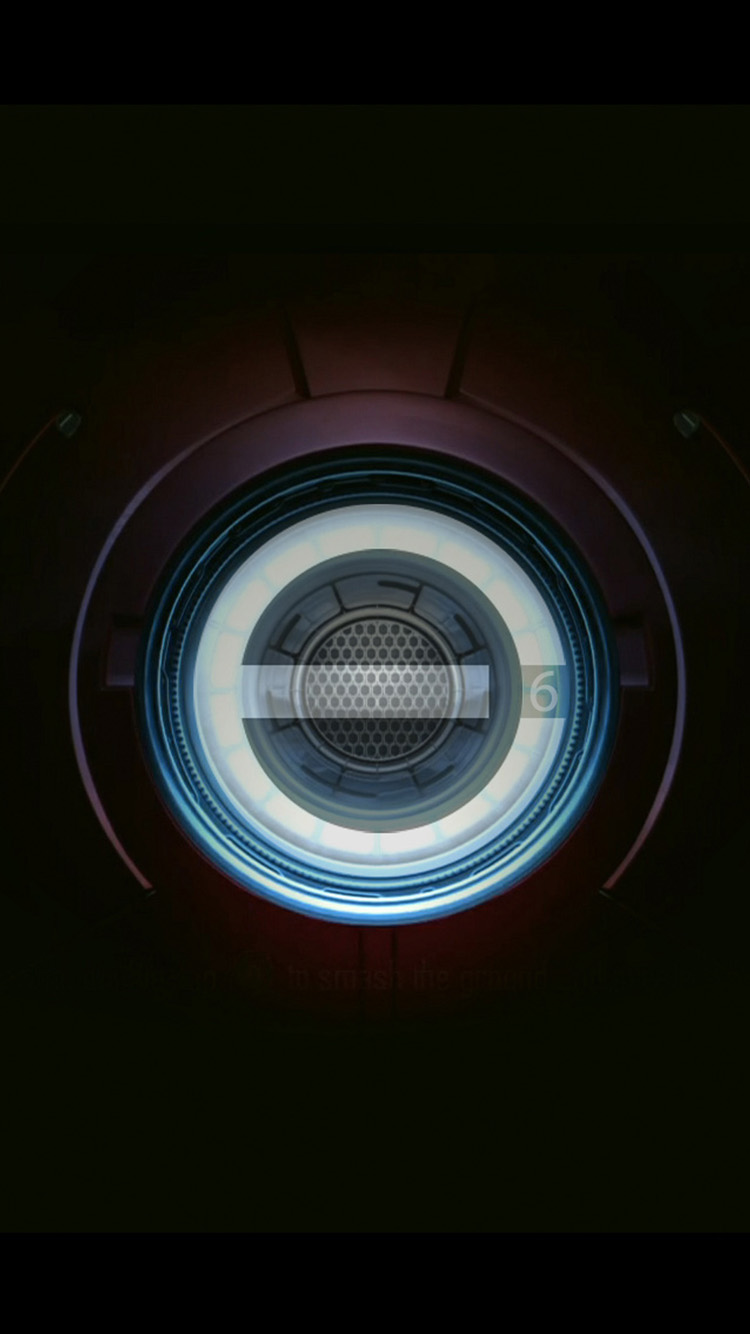Iron Man Chest Pacemaker Plate iPhone 6 Wallpaper iPhone 6 750x1334