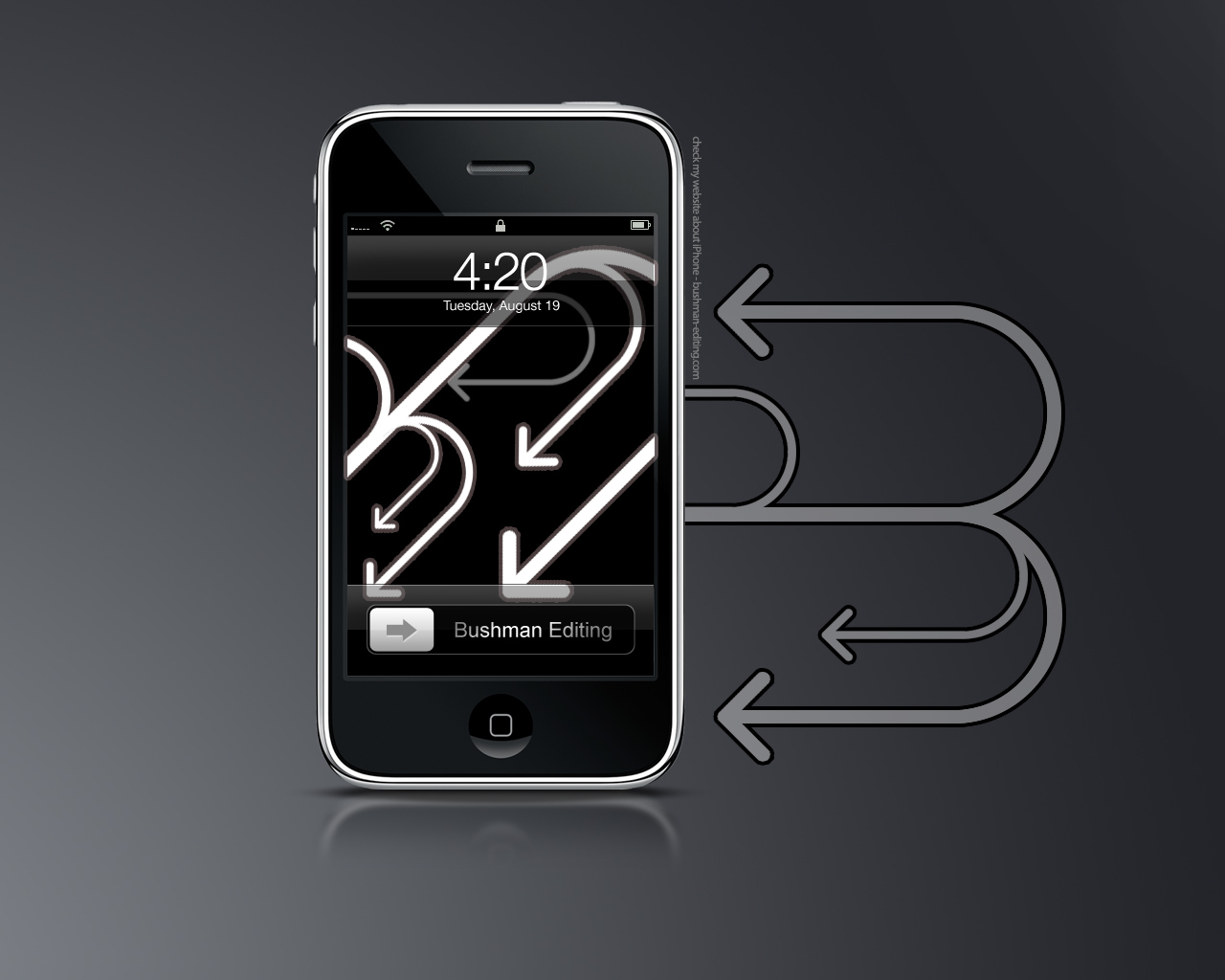 iPhone   lock screen by mr iphone 1280x1024