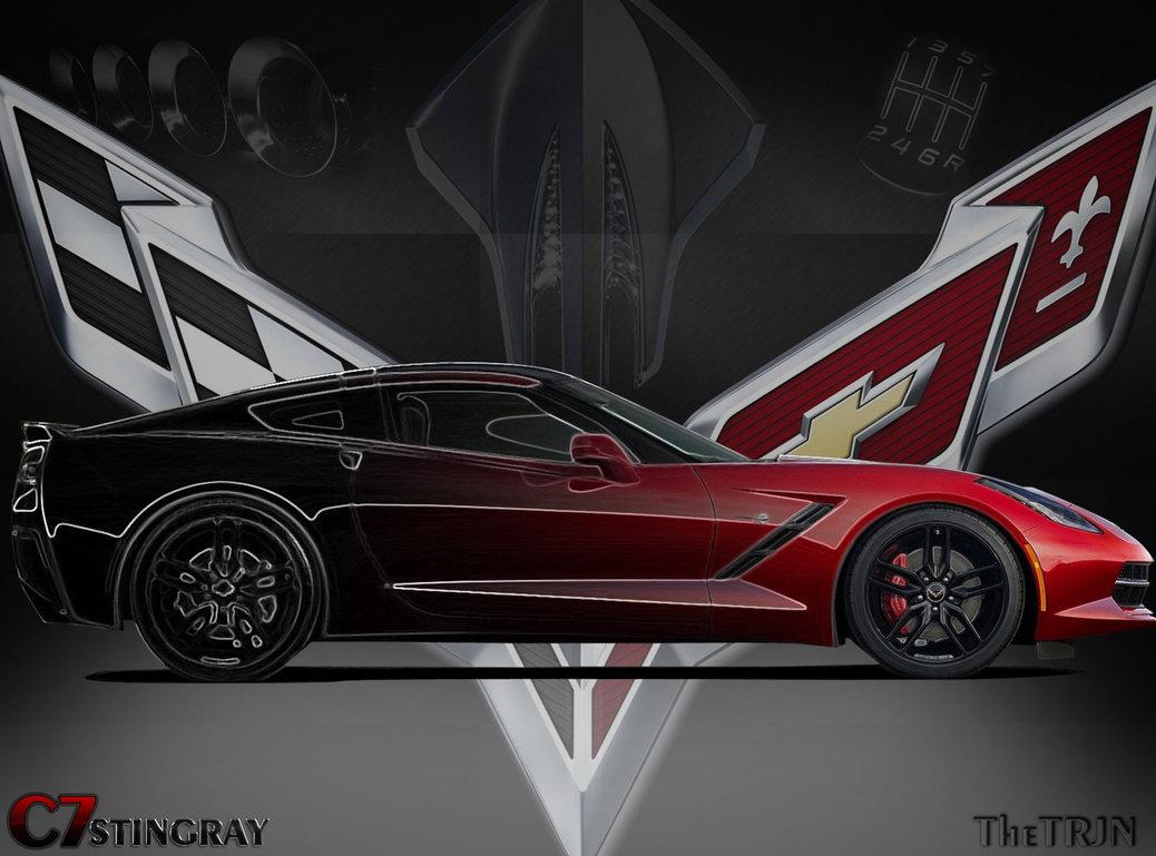 c7 corvette logo wallpaper wallpapersafari