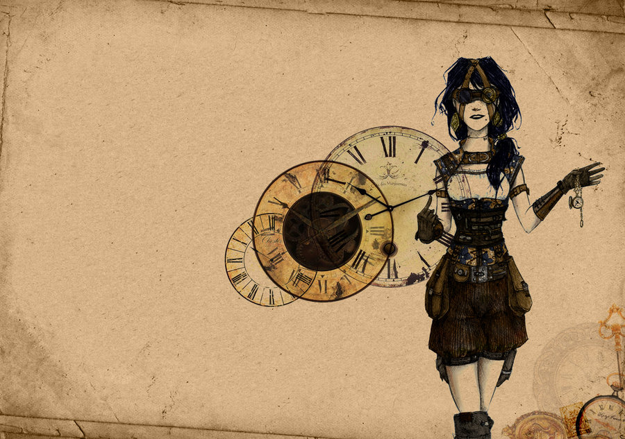 Steampunk Girl Wallpaper by MsLive 900x633