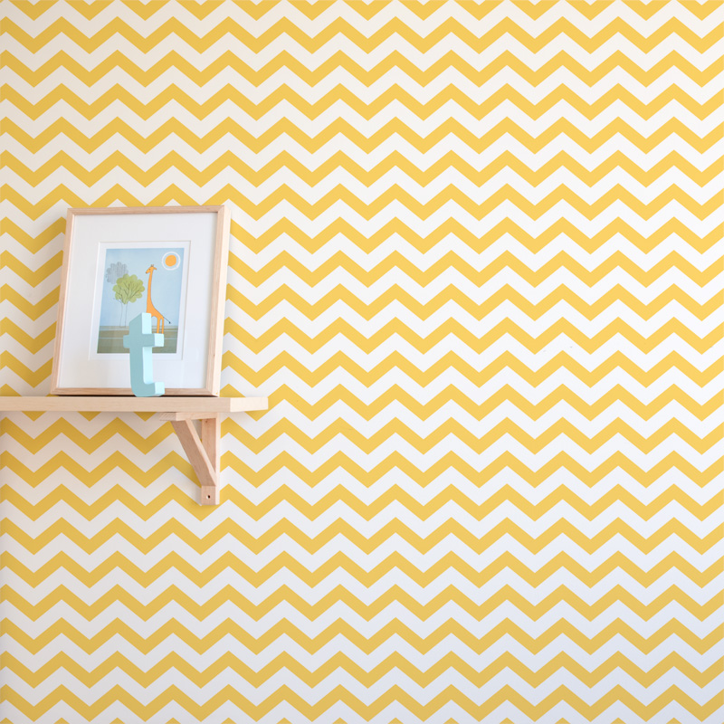 Chevron Wallpaper for Nursery 800x800