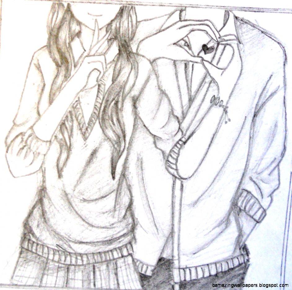 Anime Wallpaper Drawing Couple 942x936