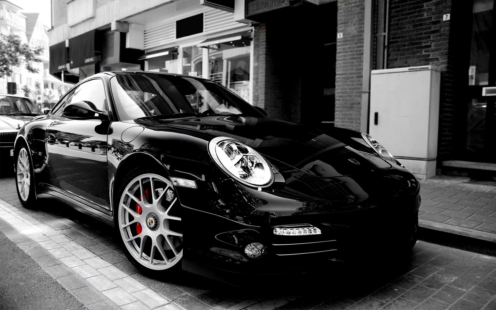 Black Porsche 911 wallpaper 1920x1200