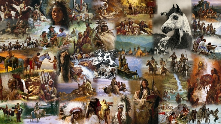 native american Wallpaper Native American Indians and Wolves Pint 736x414
