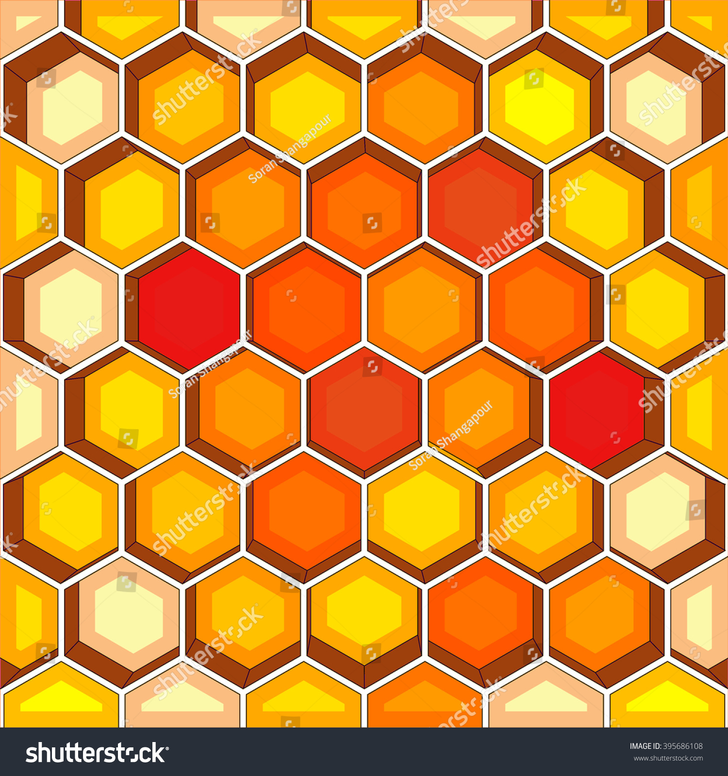 Wallpaper Red Yellow Hive Stock Illustration 395686108 1500x1600