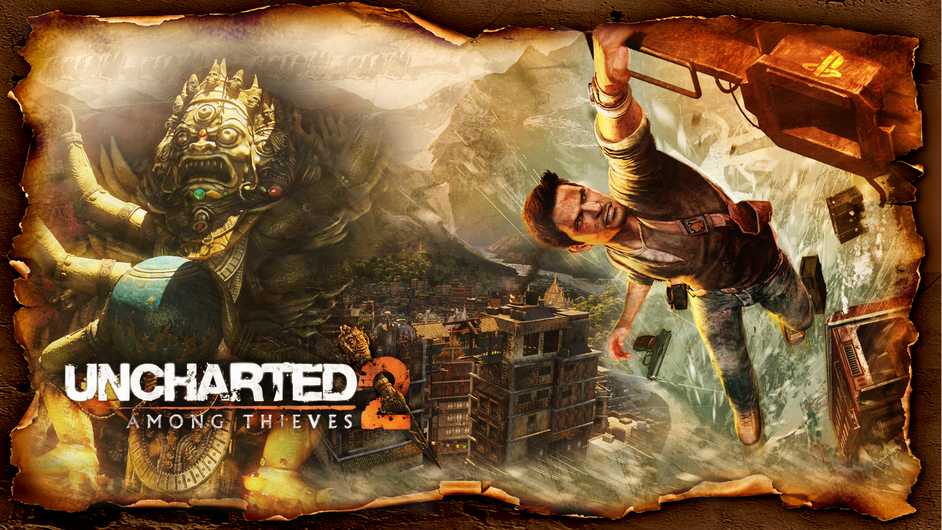 Uncharted 2   Hanging on for Dear Life Wallpapers 1920x1080