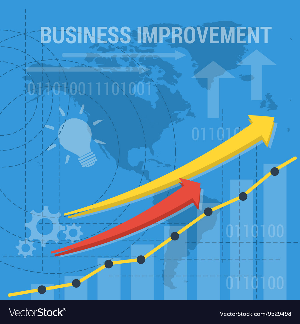 Square background BUSINESS IMPROVEMENT Royalty Vector 1000x1080