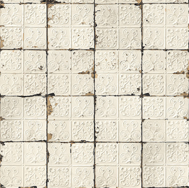... Tin Tiles Wallpaper - Eclectic - Wallpaper - by Not on the High Street