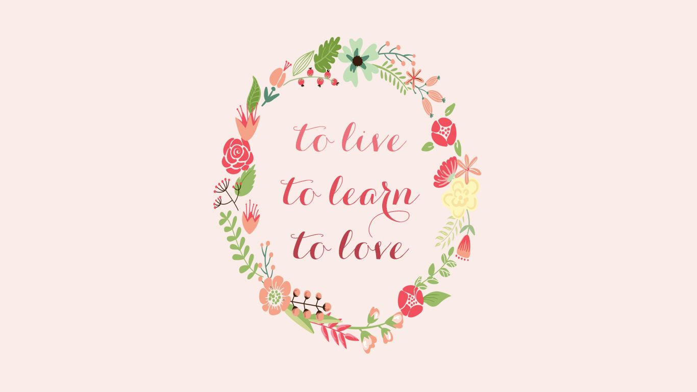 Free Download Pink Floral Inspiration Quote Wallpaper Background