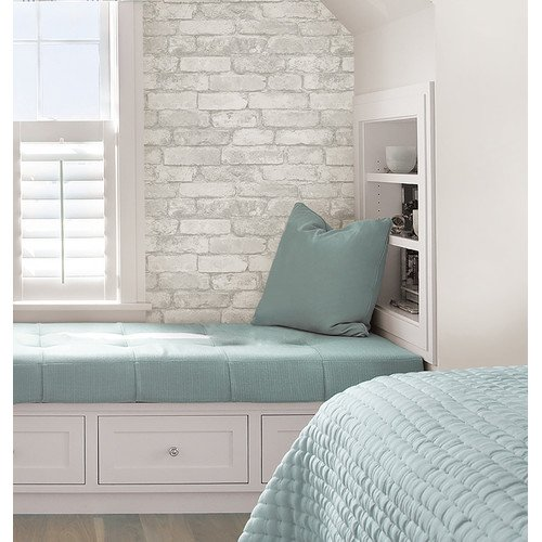 Grey and White Brick Peel And Stick Wallpaper Reviews Wayfair 500x500