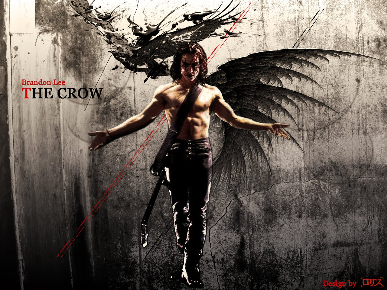 47 The Crow Wallpaper Brandon Lee On Wallpapersafari