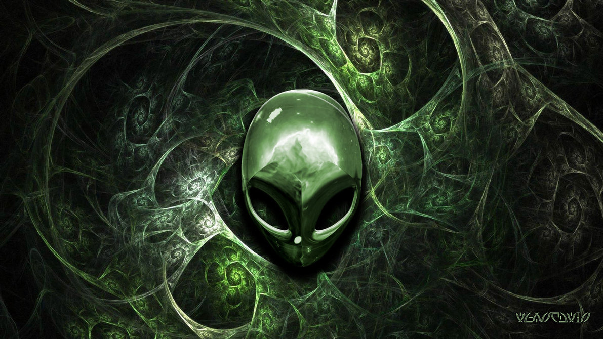Alienware wallpapers green black ART TWO 1191x670