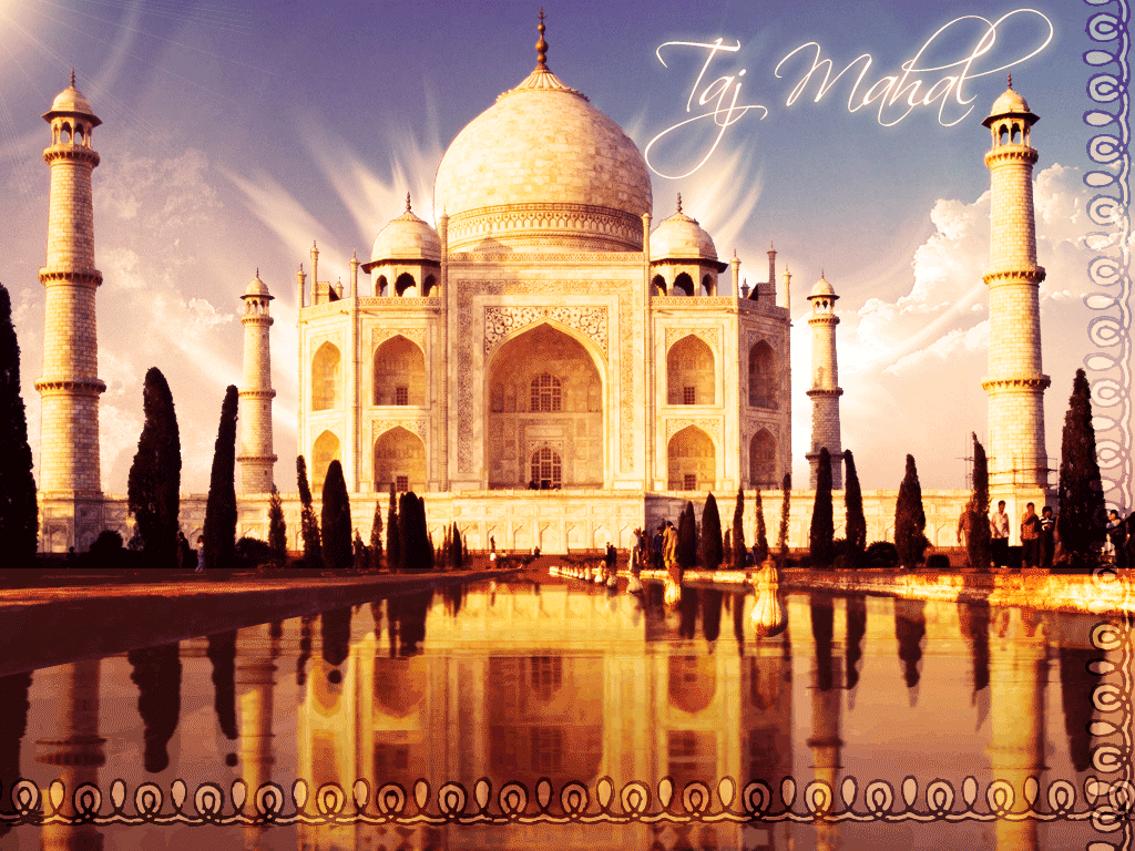 Wallpapers Taj Mahal Wallpapers   Online 7 Wonders Wallpapers 1024x768