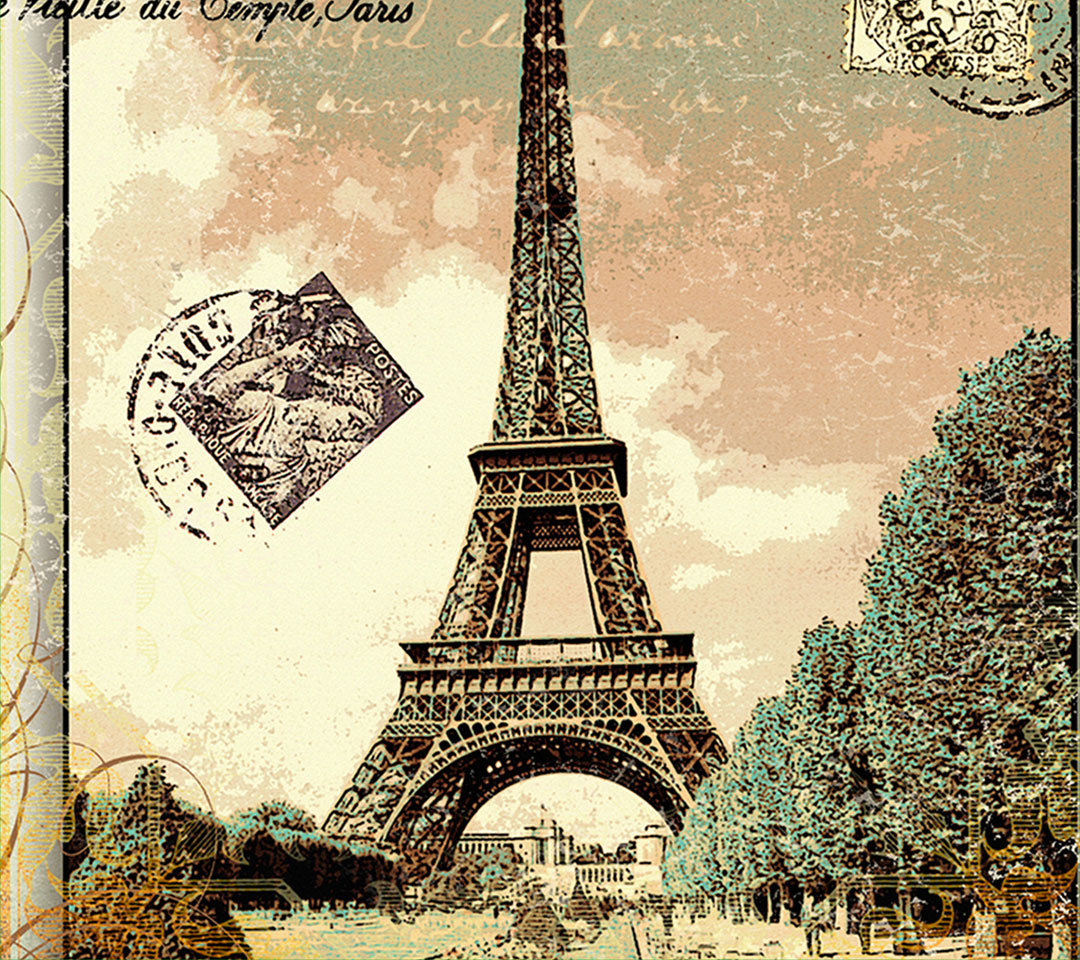 Поздравления наурызу, открытка с видом эйфелевой башни