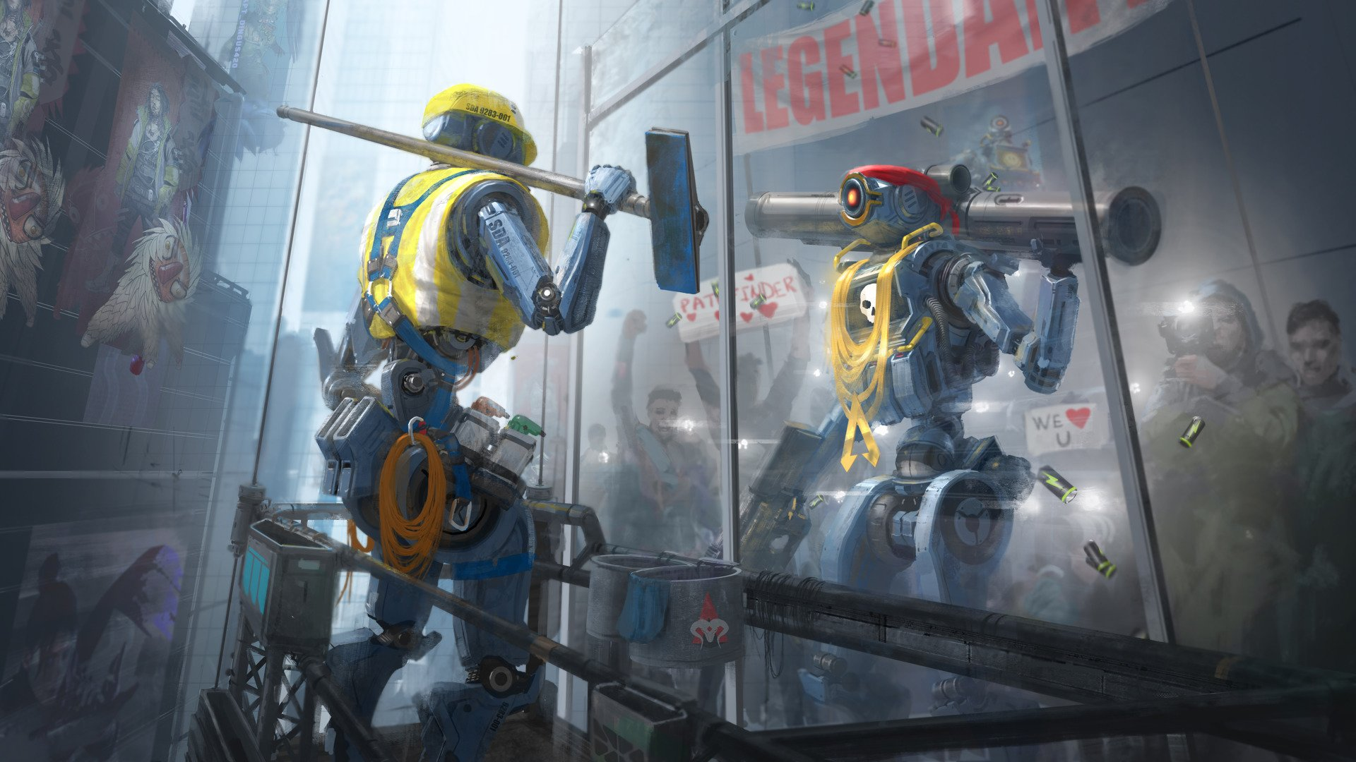 Pathfinder Apex Legends Awesome Art 4521 Wallpapers and 1920x1080