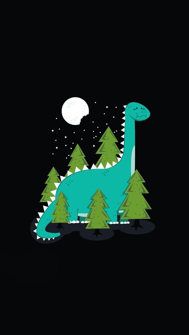 Cute Cartoon Dinosaur Wallpaper   iPhone Wallpapers 640x1136