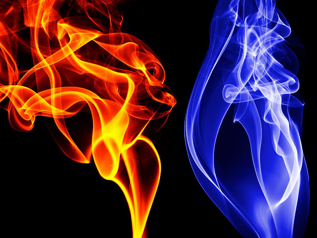 3D Fire flames blue red fire work fames graphics 640x480