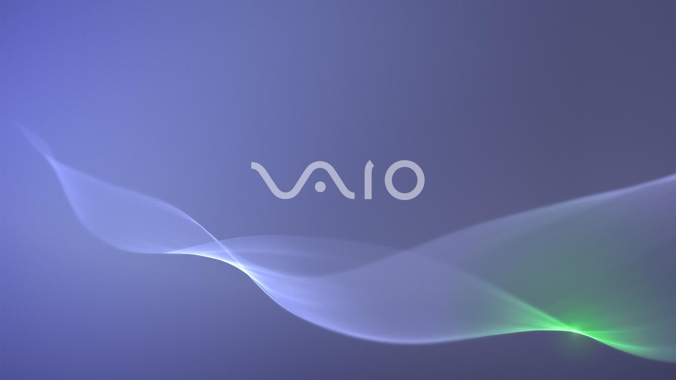 Blue VAIO Wallpaper 1440 x 900 1366x768