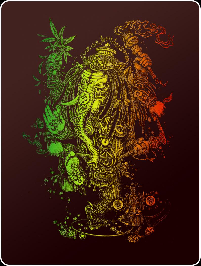 Hd wallpaper ganpati - Trippy Rasta Wallpaper Wallpapersafari