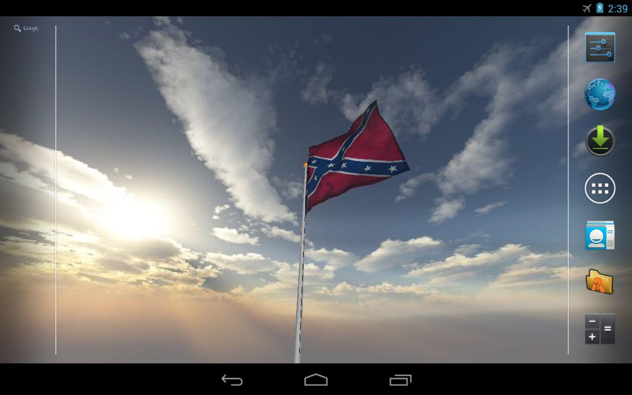 Real Rebel Flag Live Wallpaper   screenshot 1280x800