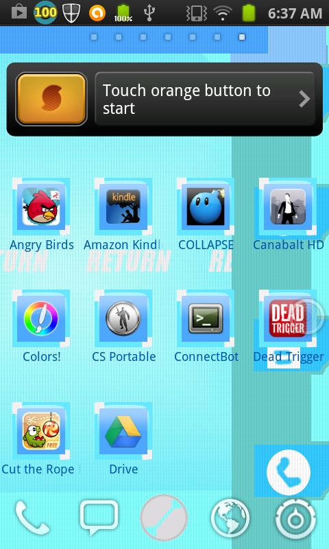Megamanexe Plug in PET Theme   screenshot 480x800