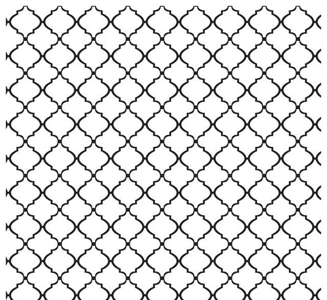 Removable Wallpaper Lattice Peel Stick Self Adhesive Black White 640x588