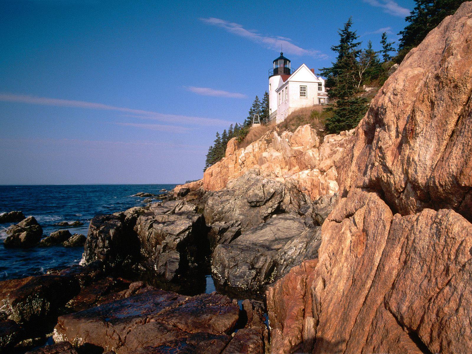 Acadia National Park Maine picture Bass Harbor Head Lighthouse Acadia 1600x1200