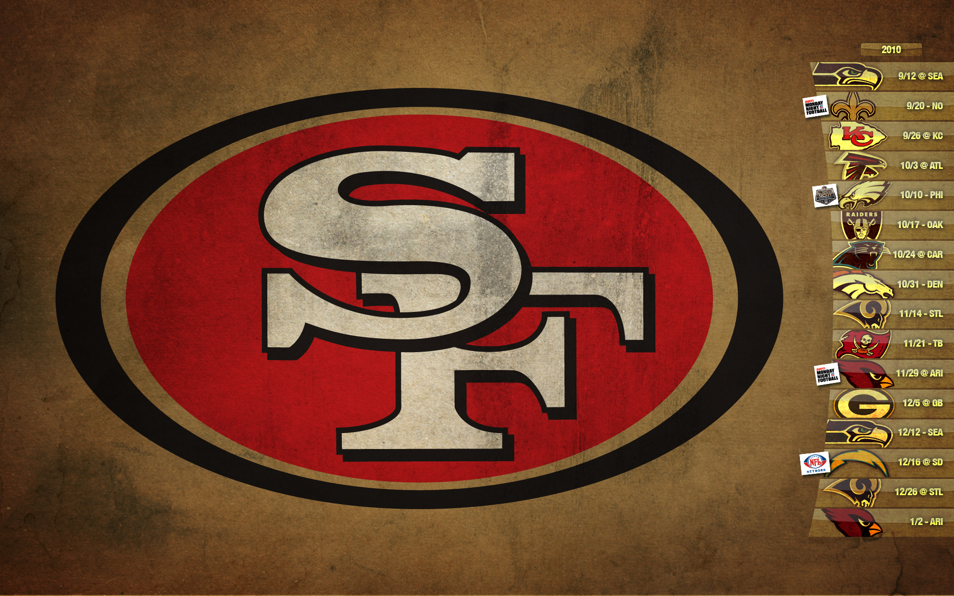 2010 49ers Graphics Wallpapers Schedules Photoshop Page 2 1920x1200