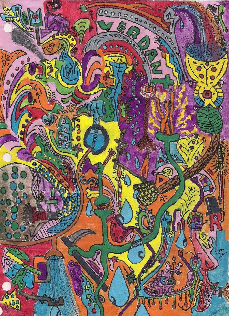 trippy hippie wallpaper wallpapersafari