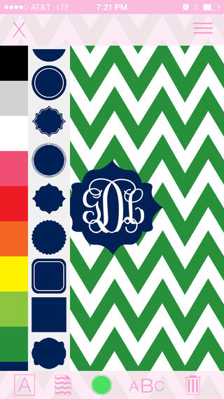 Marley Lilly Monogram Store Wallpaper Creator ios 320x568