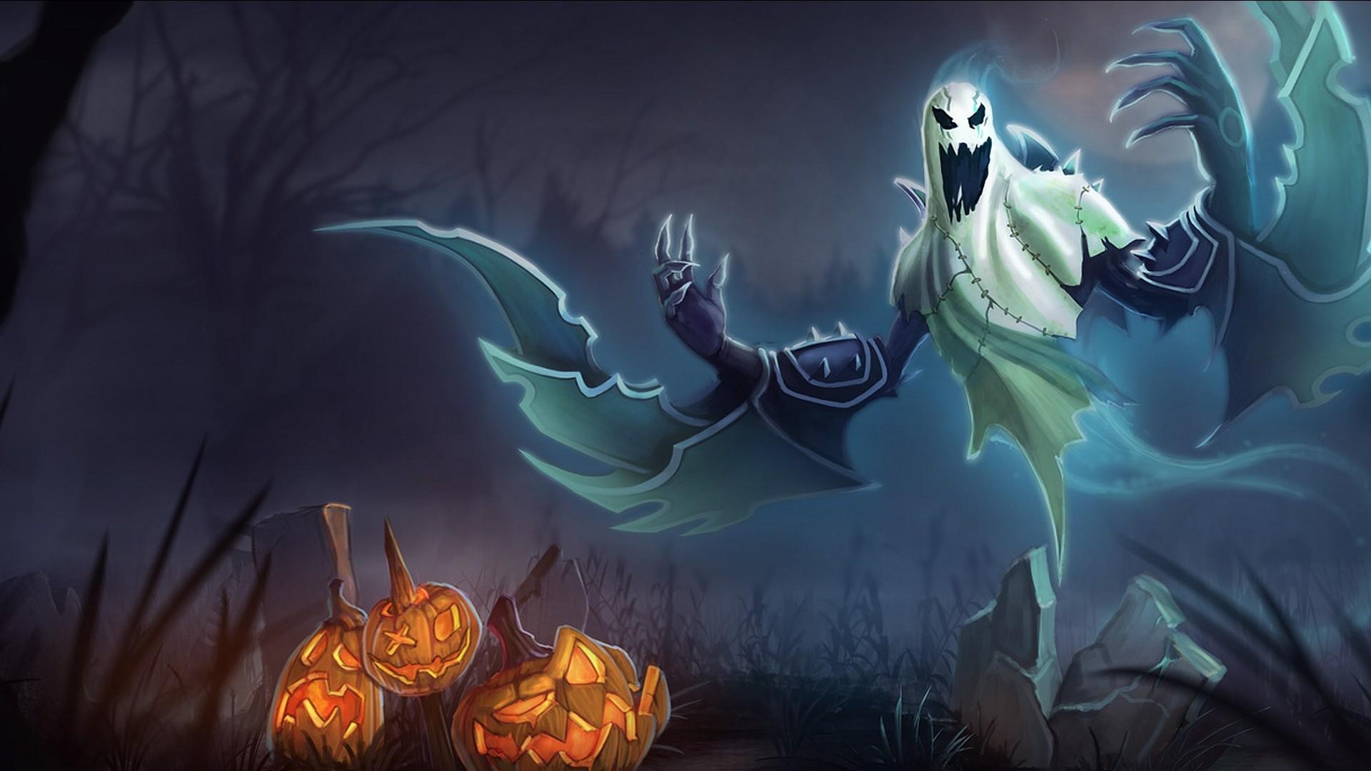 download halloween ghosts wallpaper desktop background in 1680x1050 hd 1920x1080