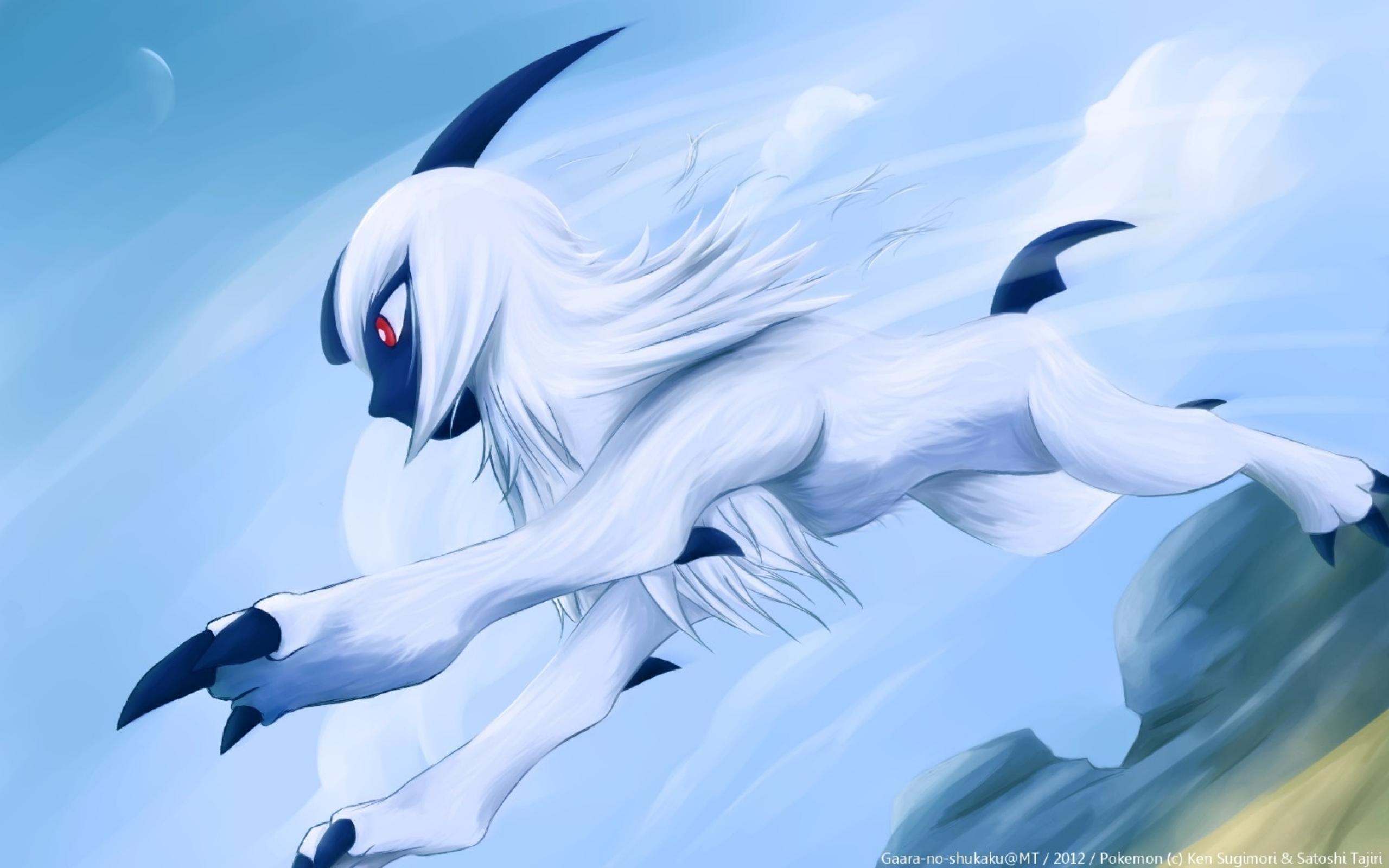paintings nintendo pokemon video games absol wallpaperjpg 2560x1600