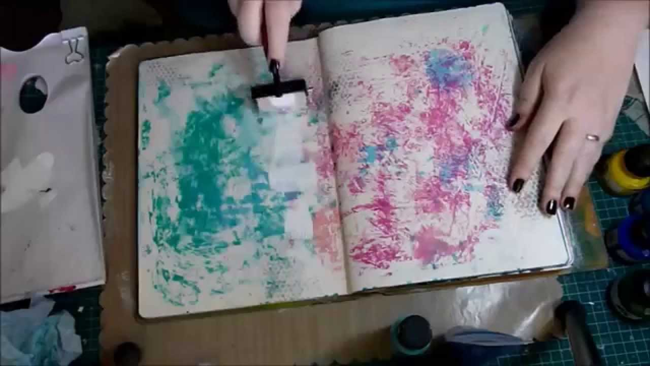 10 Basic Background Techniques for Art Journaling 1280x720