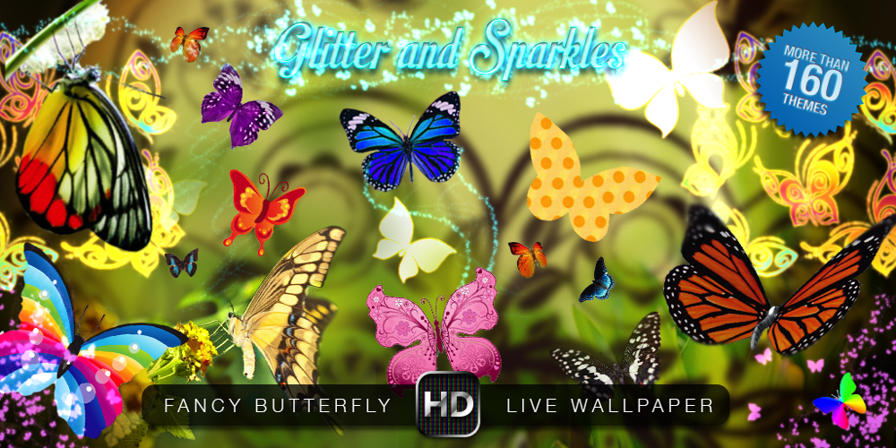 Download Fancy Butterfly Live Wallpaper for android Fancy Butterfly 1000x500