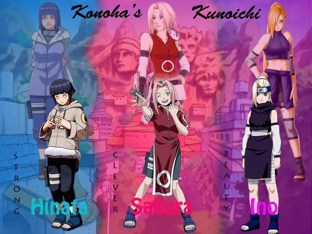 Hinata Sakura and Ino wallpaper   Animebay Wallpapers 1024x768