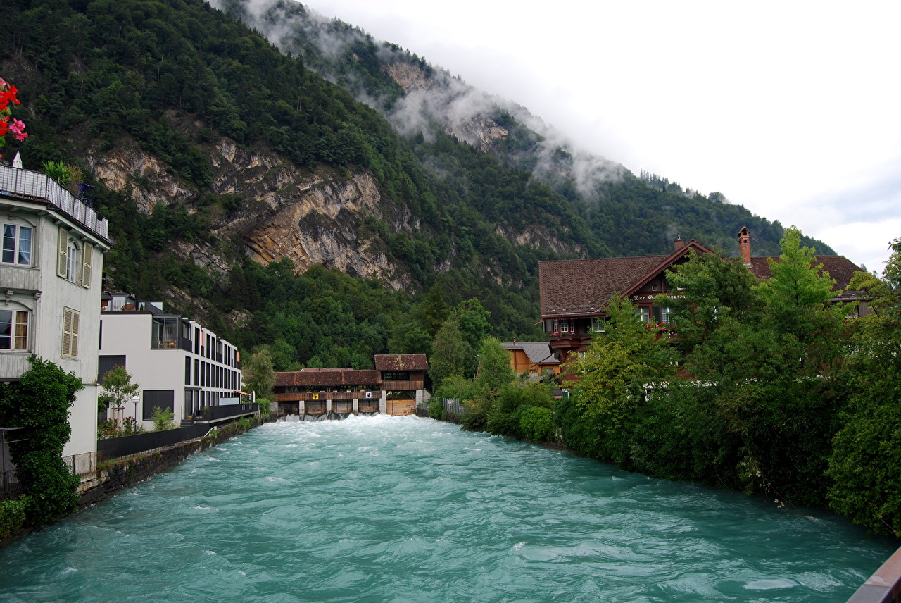 Photos Switzerland Interlaken Cities 1280x856