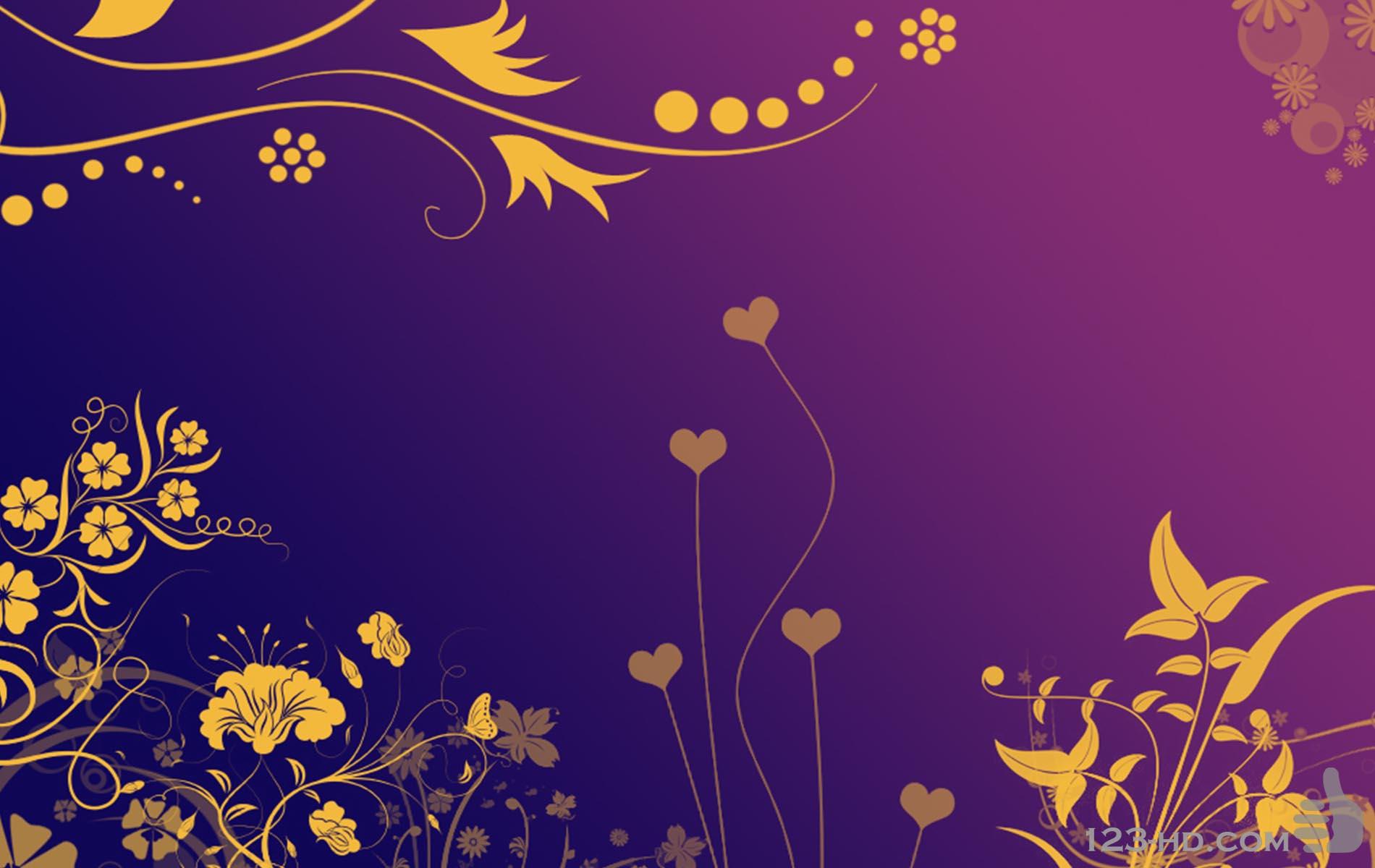 Purple Gold Wallpaper   HD Wallpapers Lovely 1900x1200