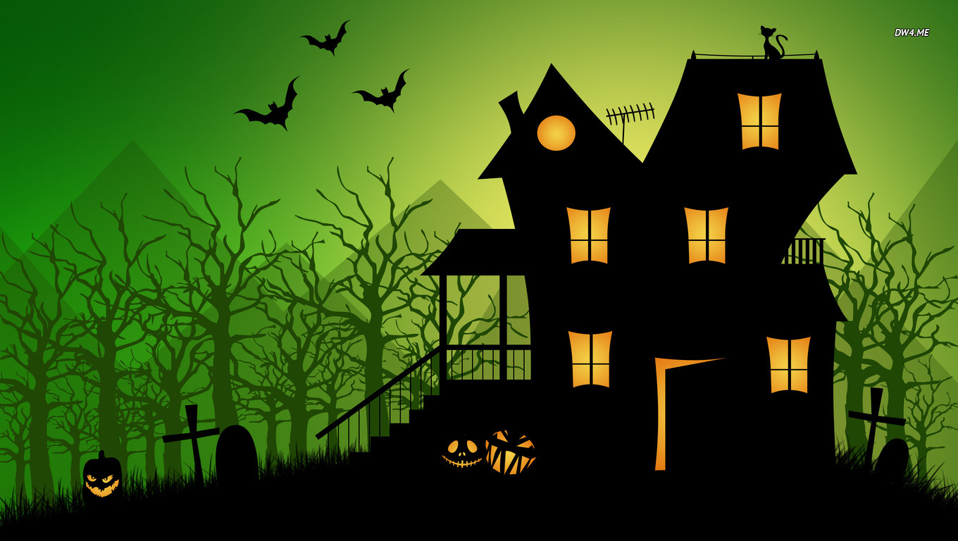 Haunted house wallpaper   Holiday wallpapers   1769 1360x768