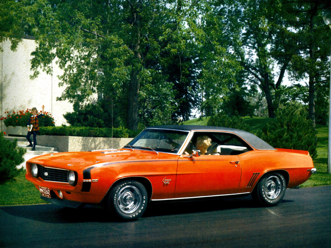 Chevrolet Wallpapers Chevrolet Camaro SS 396 1969 Wallpapers 1280x960