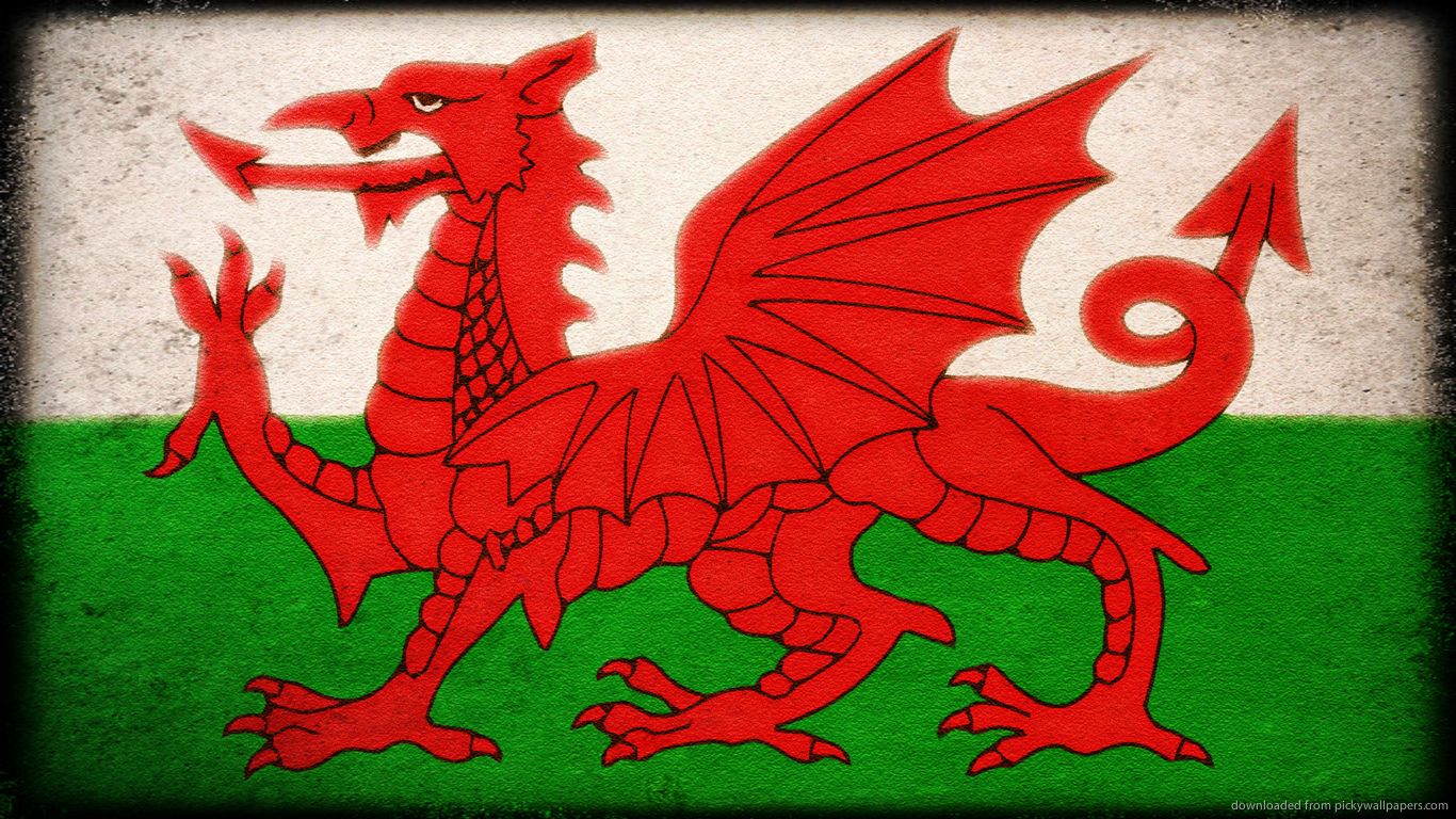 Flag of Wales for 1366x768 Dragons Wales flag Pictures of 1366x768