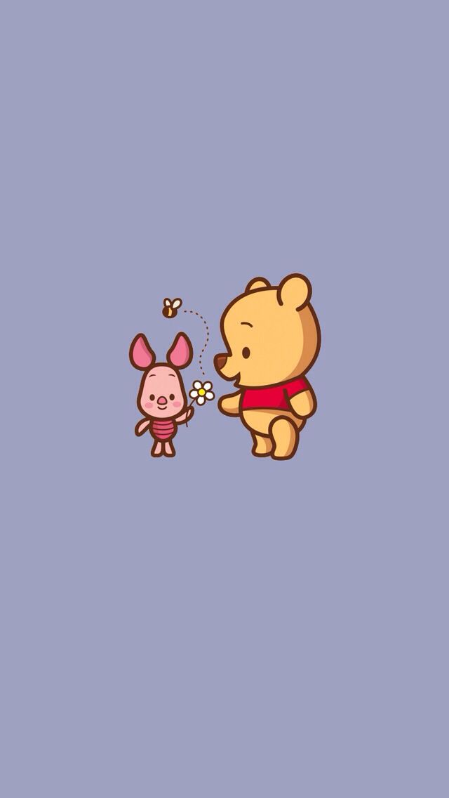 Baby piglet baby pooh iPhone wallpaper Winnie The Pooh 640x1136