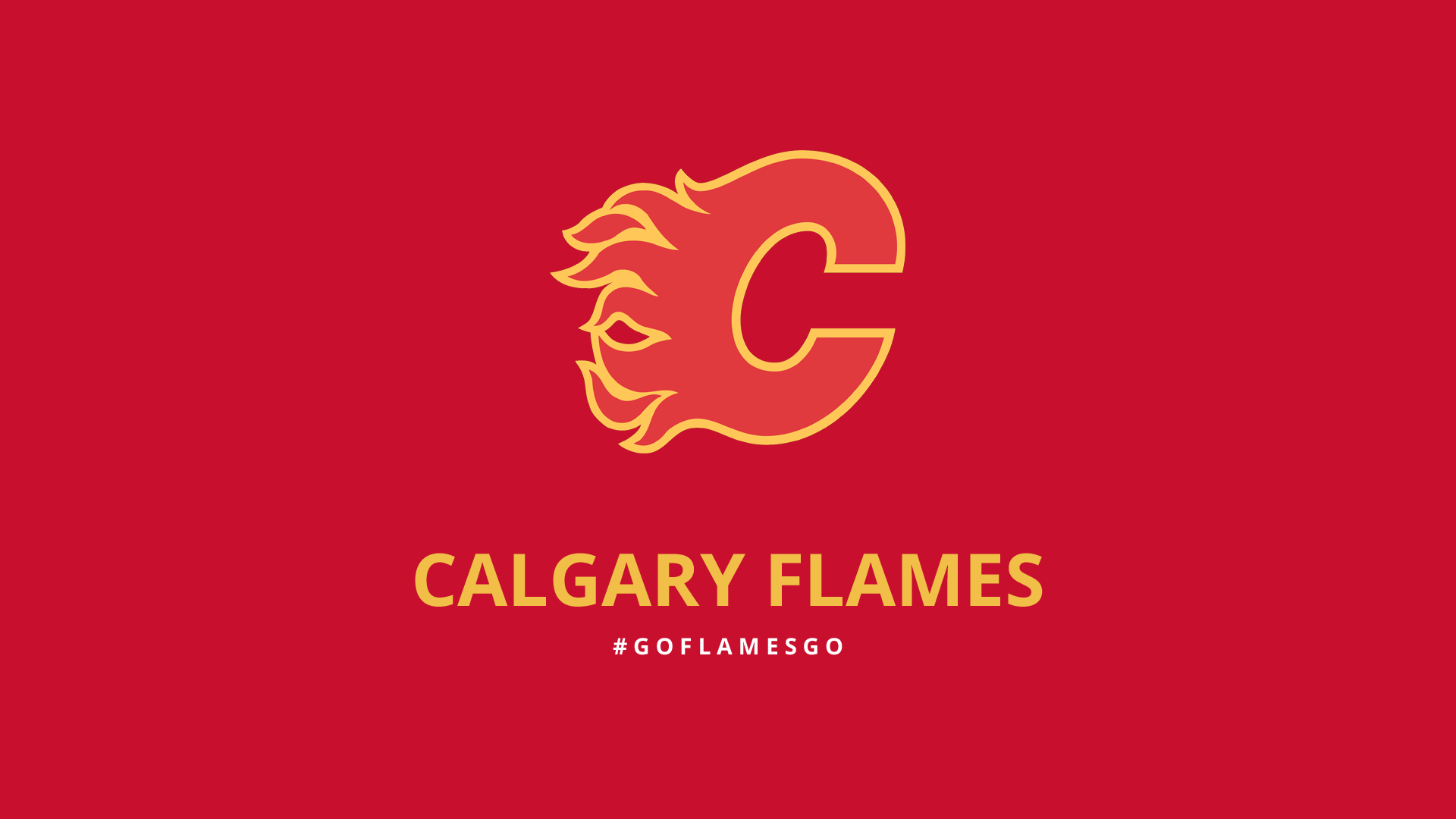 Minimalist Calgary Flames wallpaper by lfiore 1920x1080