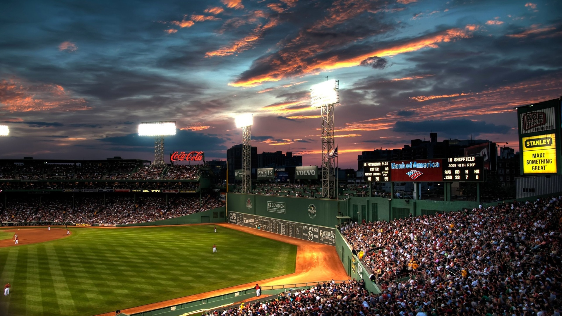 Baseball Fenway Park Stadium Full HD Desktop Wallpapers 1080p 1920x1080