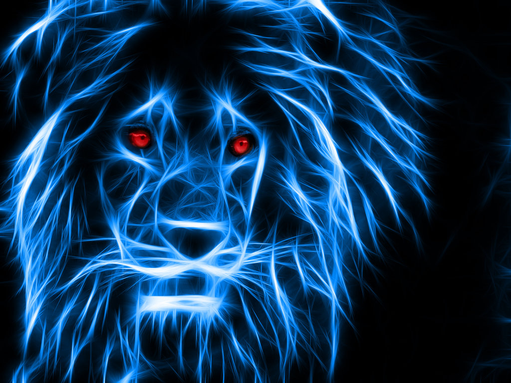 Neon Lion by JelletenThij 1024x768